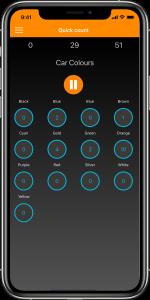 Quick Count Throughput items iPhone